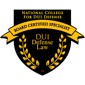 National College for DUI Defense Board Certified Specialist DUI Defense Law